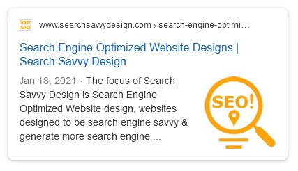 default search engine result snippet
